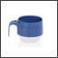 Tasse Ergogrip couleur bleu perle (base ivoire)